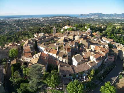 mougins from the air